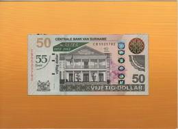 SURINAME  50 Dollars  Commemorative Issue   55th Anniversary   P167  Dated 2012 - Surinam