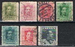 (E 674) ESPAÑA //  EDIFIL 310, 311, 312, 314, 315, 317, 321 //  1922-30 - 1889-1931 Royaume: Alphonse XIII