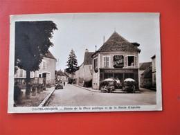 CHATEL CENSOIR - Partie De La Place Publique Et Route D' Asniere - Superbe Plan Sur Le Café Tabac Chevanier Hotel Ville - Other Municipalities