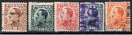 (E 675) ESPAÑA //  EDIFIL 490, 493, 495, 497, 498 //  1930-31 - 1889-1931 Reino: Alfonso XIII