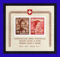 1941 - Suiza - Sc. HB B 116 - MNH - Socorro De Invierno - SU- 080 - 03 - Bloques & Hojas