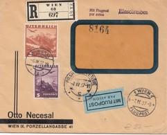 Austria - 1937 Registered Airmail Wien To Praha - Storia Postale
