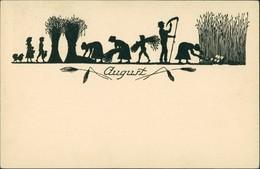 Scherenschnitt/Schattenschnitt-Ansichtskarten Künstlerkarte August 1922 - Scherenschnitt - Silhouette