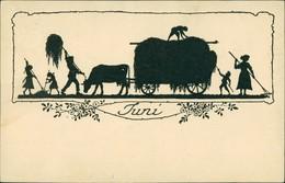 Scherenschnitt/Schattenschnitt-Ansichtskarten Künstlerkarte Juni 1922 - Scherenschnitt - Silhouette