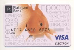 Credit Card Fauna Goldfish Bankcard Platinum Bank UKRAINE VISA Expired - Geldkarten (Ablauf Min. 10 Jahre)