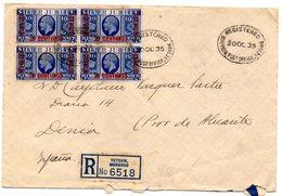 Carta  Certificada Tetuan Marruecos De 1935. - Maroc Espagnol