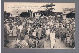 Cote D'Ivoire Grand-Bassam - La Place Du Marché Un Jour De Fêtes Ca 1910 OLD POSTCARD - Côte-d'Ivoire
