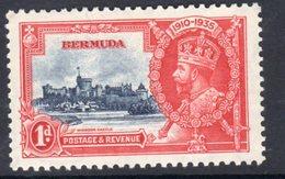 Bermuda GV 1935 Silver Jubilee 1d Value, Hinged Mint, SG 94 (A) - Bermuda
