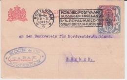 NEDERLAND BRIEFKAART 10 FEBRUARY 1923 OVERLOAD - Entiers Postaux