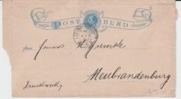 NEDERLAND POSTBLAD 4 APRIL 1890 LEEUWARDEN NEUNRANDENBOURG - Entiers Postaux