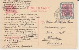 NEDERLAND BRIEFKAART 28 JANUARI 1921 OVERLOAD - Entiers Postaux