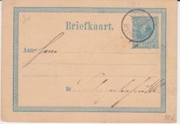 NEDERLAND BRIEFKAART 1877 WILHELM III - Entiers Postaux