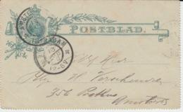 NEDERLAND POSTBLAD 13 AUGUST 1909 AMSTERDAM - Entiers Postaux