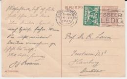 NEDERLAND BRIEFKAART 14 JULY 1926 GRAVENHAGE HAMBURG - Entiers Postaux