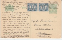 NEDERLAND BRIEFKAART 16 NOVEMBER 1919 GRAVENHAGE HAMBURG - Entiers Postaux