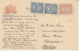 NEDERLAND BRIEFKAART 9 NOVEMBER 1919 GRAVENHAGE HAMBURG - Entiers Postaux