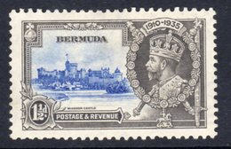 Bermuda GV 1935 Silver Jubilee 1½d Value, Hinged Mint, SG 95 (A) - Bermuda