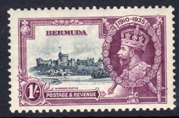 Bermuda GV 1935 Silver Jubilee 1/- Value, Hinged Mint, SG 97 (A) - Bermuda