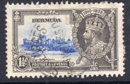 Bermuda GV 1935 Silver Jubilee 1½d Value, Used, SG 95 (A) - Bermuda