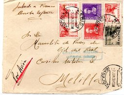 Frontal De Carta  Con Censura Militar De Merida  Badajoz 1939 - 1931-Aujourd'hui: II. République - ....Juan Carlos I