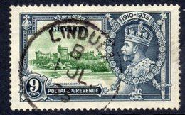 Ceylon GV 1935 Silver Jubilee 9c Value, Used, SG 380 (A) - Ceylon (...-1947)