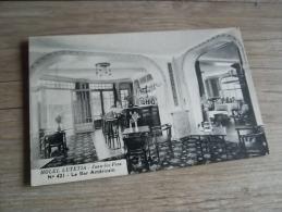 HOTEL LUTETIA JUAN LES PINS BAR AMERICAIN N° 421  @  CPA VUE RECTO/VERSO AVEC BORDS - Antibes