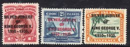 Cook Islands GV 1935 Silver Jubilee Set Of 3, Hinged Mint, SG 113/5 (A) - Cook Islands