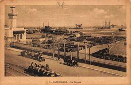 Morocco Casablanca La Douane Horse Carriage Harbour Boats Postcard - Casablanca