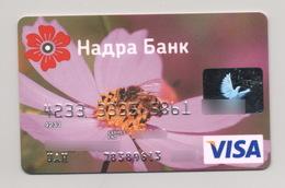 Credit Card Sport Fauna Bug Bee Bankcard Nadra Bank UKRAINE VISA Expired 2009 - Geldkarten (Ablauf Min. 10 Jahre)