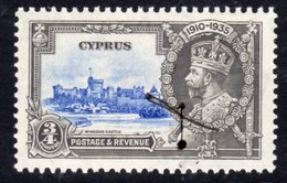 Cyprus GV 1935 Silver Jubilee ¾ Pi. Value Hinged Mint, SG 144 (A) - Cyprus (...-1960)