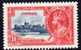 Cyprus GV 1935 Silver Jubilee 1½ Pi. Value Hinged Mint, SG 145 (A) - Cyprus (...-1960)
