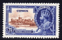Cyprus GV 1935 Silver Jubilee 2½ Pi. Value, Hinged Mint, SG 146 (A) - Cyprus (...-1960)