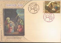RO 2013- CHRISTMAS, ROMANIA, FDC - FDC