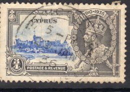 Cyprus GV 1935 Silver Jubilee ¾ Pi. Value, Used, SG 144 (A) - Cyprus (...-1960)