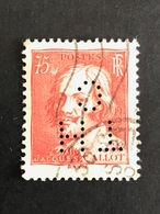 FRANCE T N° 306 Célébrité 1934 TH/C 36 Indice 4 Perforé Perforés Perfins Perfin Superbe - Perfins
