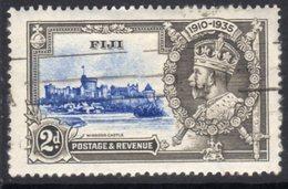 Fiji GV 1935 Silver Jubilee 2d Value, Used, SG 243 (A) - Fiji (...-1970)