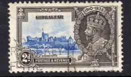 Gibraltar GV 1935 Silver Jubilee 2d Value, Used, SG 114 (A) - Gibraltar
