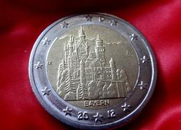 GERMANY - 2 €  -  J  -  Euro Coin 2012 Bayern Neuschwanstein Castle Deutschland CIRCULEET  COIN - Allemagne