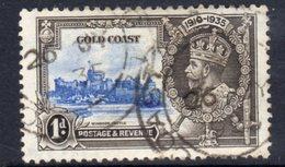 Gold Coast GV 1935 Silver Jubilee 1d Value, Used, SG 133 (A) - Gold Coast (...-1957)