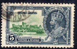 Hong Kong GV 1935 Silver Jubilee 5c Value, Used, SG 134 (A) - Hong Kong (...-1997)