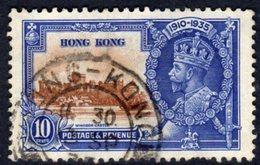 Hong Kong GV 1935 Silver Jubilee 10c Value, Used, SG 135 (A) - Hong Kong (...-1997)