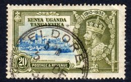 Kenya, Uganda & Tanganyika KUT GV 1935 Silver Jubilee 20c Value, Used, SG 124 (A) - Kenya, Uganda & Tanganyika