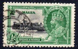 Malta GV 1935 Silver Jubilee ½d Value, Used, SG 210 (A) - Malta (...-1964)