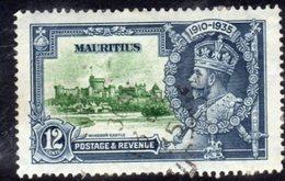 Mauritius GV 1935 Silver Jubilee 12c Value, Used, SG 246 (A) - Mauritius (...-1967)