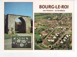 72. BOURG LE ROI . SON HISTOIRE . SA BRODERIE . PAR LA PORTE SAINT MATHURIN . BRODERIE AU POINT DE BEAUVAIS - France