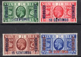Morocco Agencies (Spanish Currency) GV 1935 Silver Jubilee Set Of 4, Hinged Mint, SG 149/52 (A) - Morocco Agencies / Tangier (...-1958)