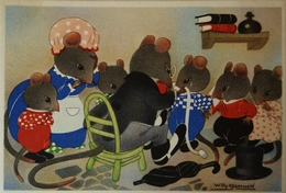 Willy Schermele // 10x15 // Human... Mice - De Muizenvijfling No 13 / 19?? - Schermele, Willy