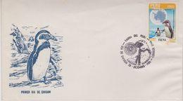 Peru 1985 Antarctica / Penguin / Fauna 1v FDC (42450) Brown On (3) Perf. - Peru