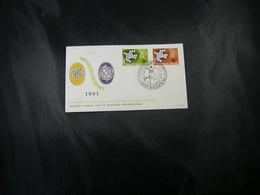"""BELG.1961 1193/1194 FDC ( Antwerpen )  : """" EUROPA 61 """" - FDC"""