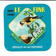 """Petite étiquette Carrée """" LE FINK """" (Chardonneret) Super Export - Quesos"""